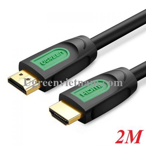 Ugreen 40462 2M màu Đen Cáp tín hiệu HDMI chuẩn 1.4 hỗ trợ phân giải 4K * 2K HD101 20040462