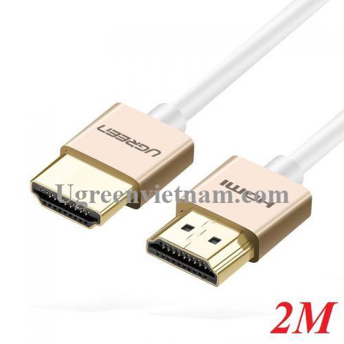 Ugreen 40490 2M màu Hồng Cáp tín hiệu HDMI chuẩn 2.0 sợi siêu nhỏ cao cấp HD117 20040490
