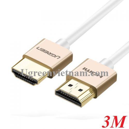 Ugreen 40491 3M màu Hồng Cáp tín hiệu HDMI chuẩn 2.0 sợi siêu nhỏ cao cấp HD117 20040491