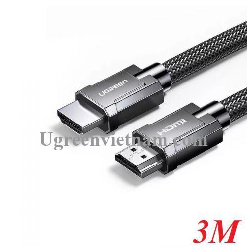 Ugreen 70325 3M 2.0 4K 60Hz 18Gbps màu đen Cáp HDMI chống nhiễu độ phân giải Cao HD136 20070325