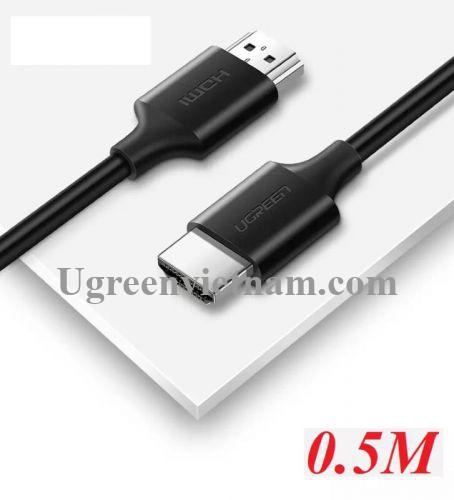 Ugreen 60173 0.5M màu đen Cáp tín hiệu HDMI 2.0 hỗ trợ 4K2K  Đồng 100% HD134
