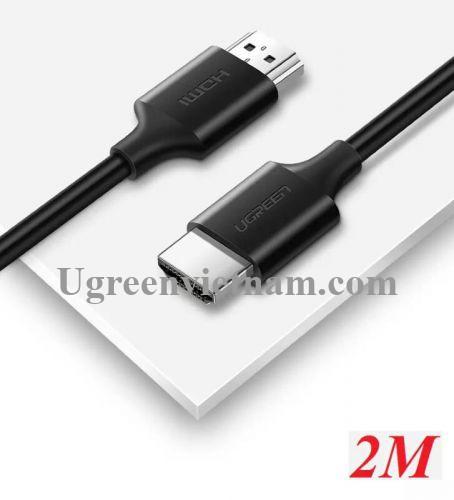 Ugreen 60175 2M màu đen Cáp tín hiệu HDMI 2.0 hỗ trợ 4K2K  Đồng 100% HD134