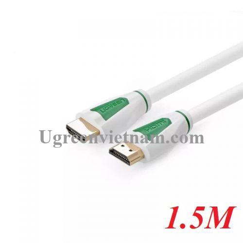 Ugreen 30199 1.5M màu Trắng Cáp tín hiệu HDMI 1.4 Full Copper 19+1 HD116
