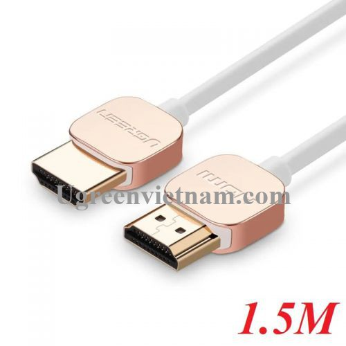 Ugreen 10475 1.5M Hdmi Cable Ultra Slim Version 2.0 19+1 HD117