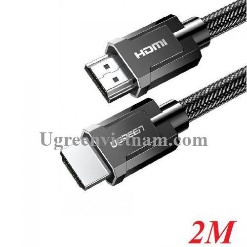 Ugreen 70324 2M 16Gbps 8K cáp Ultra HDMI 2.0 màu đen 4k@60hz HD136 20070324