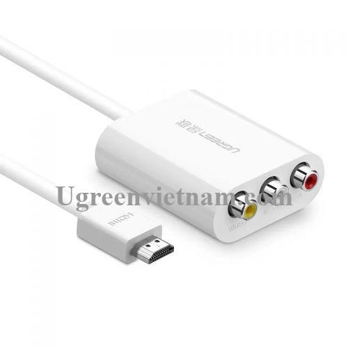 Ugreen 30452 1M Màu Trắng Bộ chuyển đổi HDMI sang AV 30452