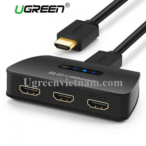 Ugreen 40215 Màu Đen Bộ gộp HDMI 3 vào 1 HDMI chuẩn 4.1 40215