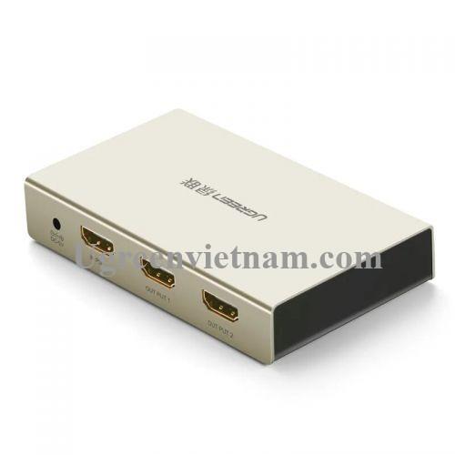 Ugreen 40276 Bộ chia HDMI 1 vào 2 ra hỗ trợ 4K x 2K vỏ hộp kim cao cấp 40276