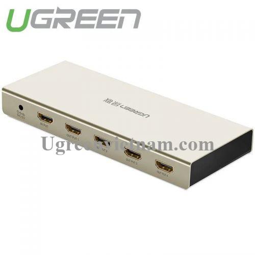 Ugreen 40277 Bộ chia HDMI 1 vào 4 ra hỗ trợ 4K x 2K vỏ hộp kim cao cấp 40277
