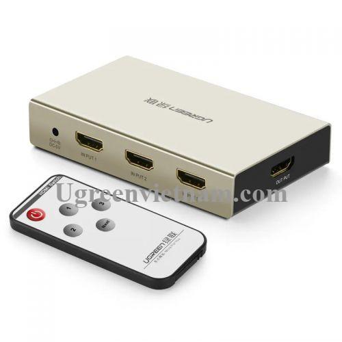 Ugreen 40278 Bộ gộp HDMI 3 vào 1 ra hỗ trợ 4K x 2K vỏ hộp kim cao cấp 40278