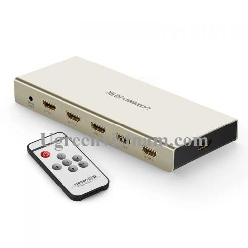 Ugreen 40279 Bộ gộp HDMI 5 vào 1 ra hỗ trợ 4K x 2K vỏ hộp kim cao cấp 40279