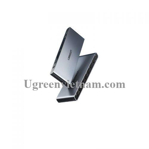 Ugreen 70435 4k 60hz hdmi 2.0 Matrix 4 Vào 2 Ra hỗ trợ Audio Optical+3.5mm màu đen CM288 20070435