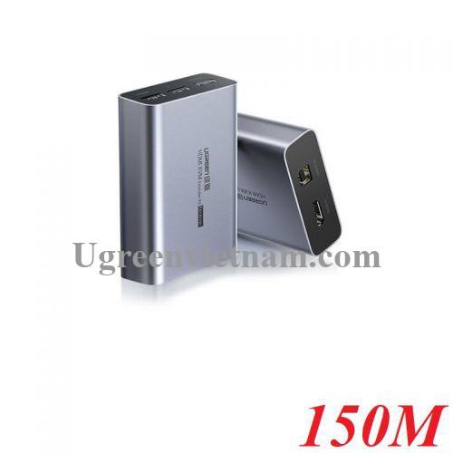Ugreen 70438 150M-450M 1200P 60Hz Bộ nối dài KVM HDMI và USB Qua Cáp Mạng cat5e cat6 CM291 20070438