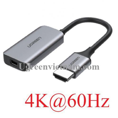 Ugreen 70693 4K 60hz Bộ chuyển đổi HDMI sang USB Type-C màu ghi xám CM323 20070693