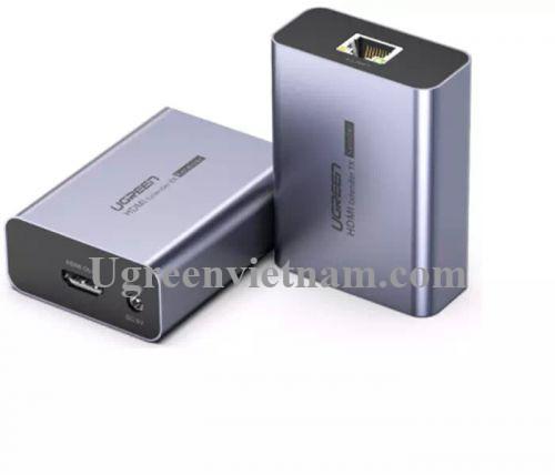 Ugreen 50739 50M màu Đen Bộ kéo dài HDMI qua cáp mạng Cat5 6 có điều khiển IR CM196