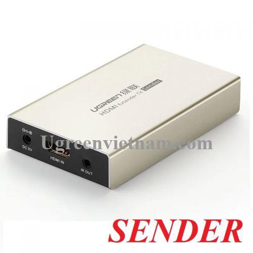 Ugreen 30944 120M Bộ phát nối dài tín hiệu HDMI qua dây mạng cat5 cat6 hỗ trợ HDCP 3d 1080p MM116 20030944