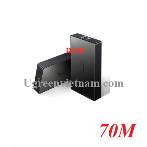 Ugreen 50999 70M 4K bộ nối dài cáp HDMI qua 1 dây mạng RJ45 cat5e cat6 màu đen CM215 20050999