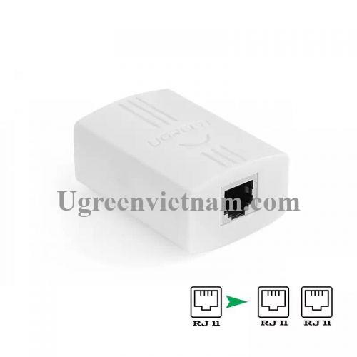 Ugreen 20351 Màu Trắng Đầu chia cổng điện thoại RJ11 1 ra 2 cao cấp 20351