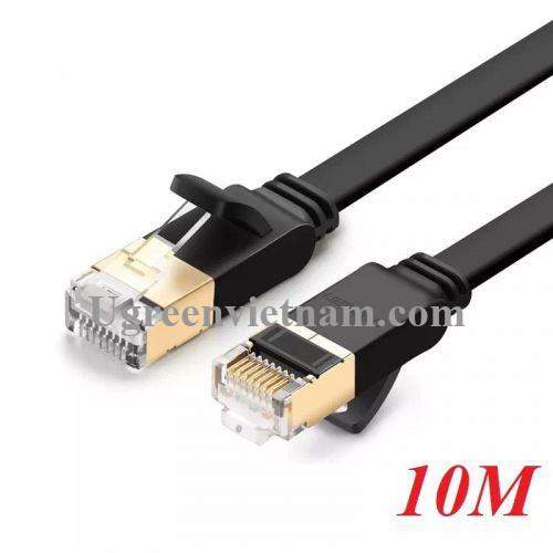 Ugreen 11265 10M màu Đen Cáp mạng LAN CAT 7 STP dây dẹp NW106