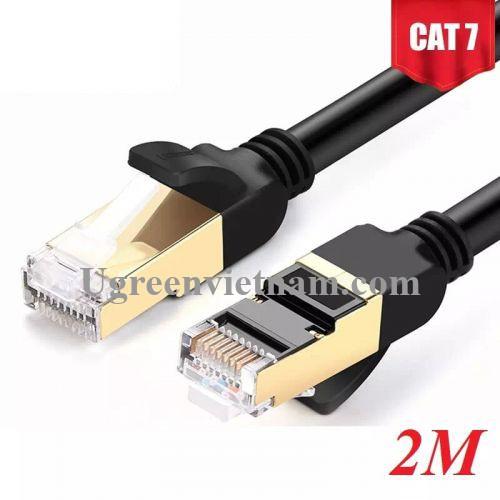 Ugreen 11269 2M màu Đen Cáp mạng LAN CAT7 STP chống nhiễu NW107
