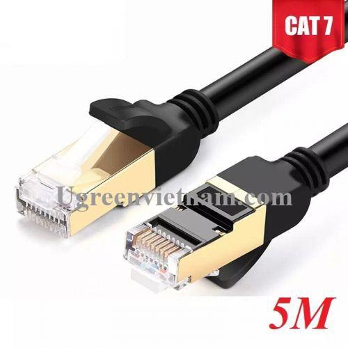 Ugreen 11271 5M màu Đen Cáp mạng LAN CAT7 STP chống nhiễu NW107
