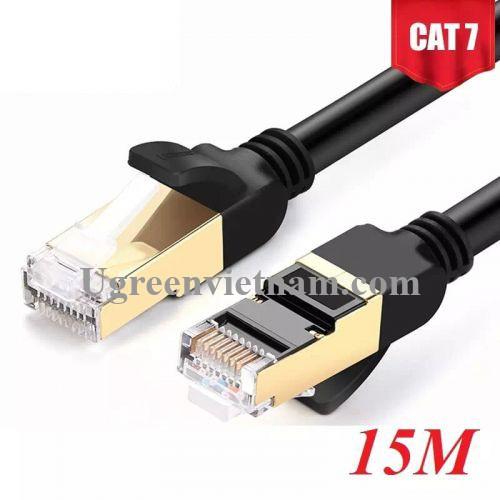 Ugreen 11274 15M màu Đen Cáp mạng LAN CAT7 STP chống nhiễu NW107