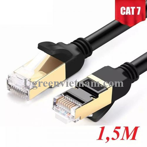 Ugreen 11277 1.5M màu Đen Cáp mạng LAN CAT7 STP chống nhiễu NW107