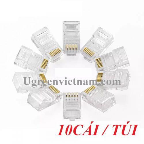 Ugreen 20329 Đầu bấm mạng RJ45 chuẩn Cat5e cao cấp mạ vàng NW110