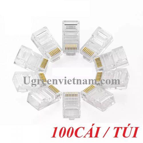 Ugreen 50246 Đầu bấm mạng RJ45 chuẩn Cat5e cao cấp mạ vàng NW110