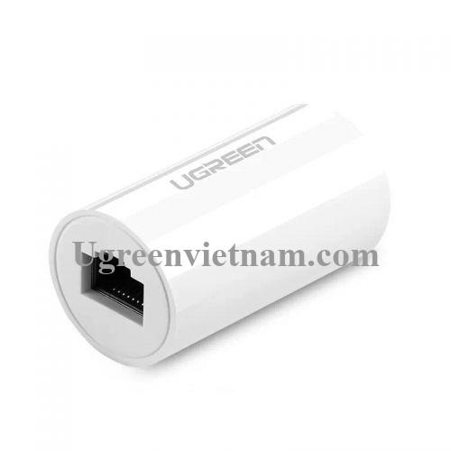 Ugreen 20391 Màu Trắng Đầu nối dài dây mạng nhựa PVC cao cấp NW116