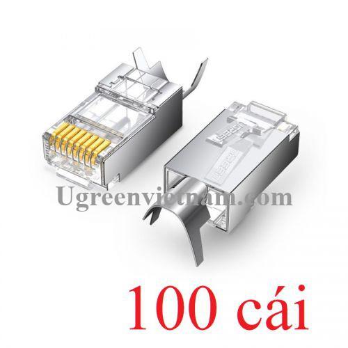Ugreen 80828 Cat6a Cat7 100 chiếc đầu bấm mạng dùng cho dây lớn RJ45 LAN 8P8C NW123 20080828