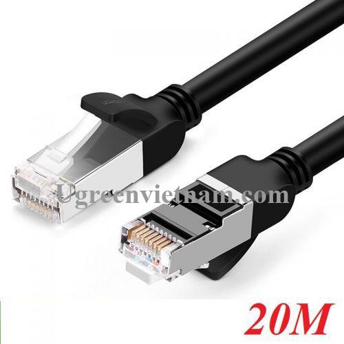 Ugreen 60819 20M màu Đen Cáp mạng LAN CAT 6 Đầu bấm kim loại NW101 20060819