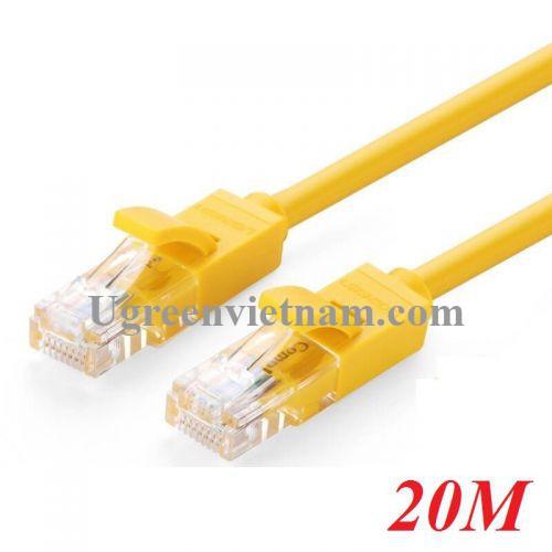 Ugreen 60816 20M màu Vàng Cáp mạng LAN CAT5E UTP NW103 20060816