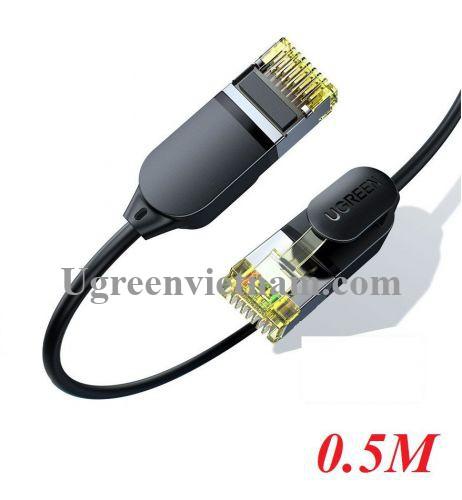 Ugreen 80414 0.5M 10Gbps màu đen cáp mạng CAT7 siêu mỏng nhỏ 0.38mm NW149 20080414