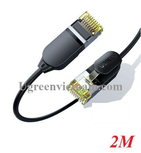 Ugreen 80417 2M 10Gbps màu đen cáp mạng CAT7 siêu mỏng nhỏ 0.38mm NW149 20080417