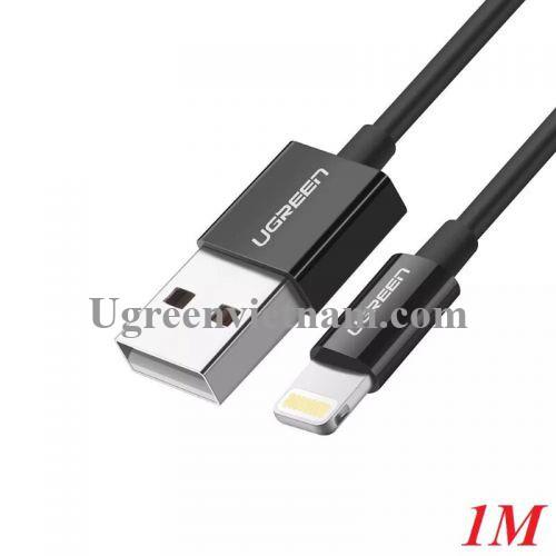 Ugreen 10470 1M màu Đen ABS Cáp Lightning sạc + truyền dữ liệu cho iPhone US155 20010470