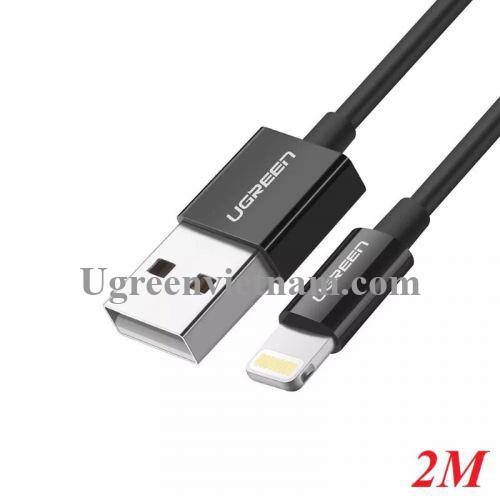 Ugreen 10472 2M màu Đen ABS Cáp Lightning sạc + truyền dữ liệu cho iPhone US155 20010472