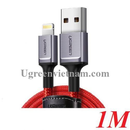 Ugreen 80635 1M màu đỏ cáp Lightning ra USB có chíp MFI chính hãng US293 20080635