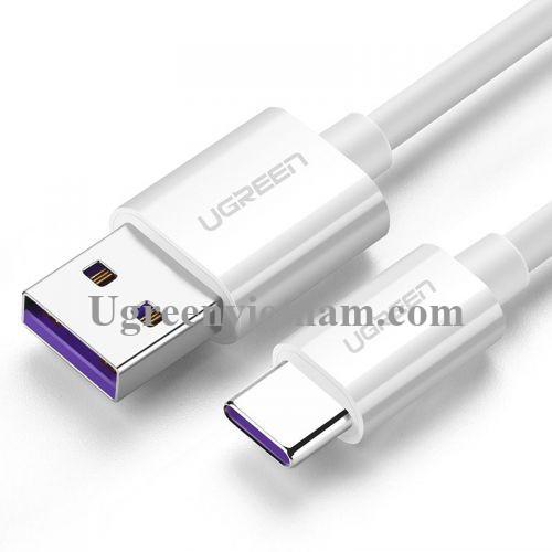 Ugreen 60726 1.5M màu trắng usb type c 2.0 Cáp sạc và dữ liệu truyền từ máy tính ra điện thoại US253 20060726