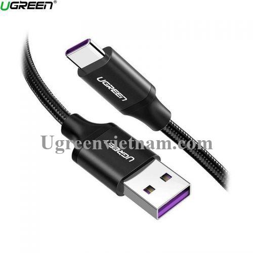 Ugreen 60729 1.5M 5a qc3.0 USB A sang type C 2.0 màu đen cáp sạc và truyền dữ liệu từ máy tính ra điện thoại US279 20060729