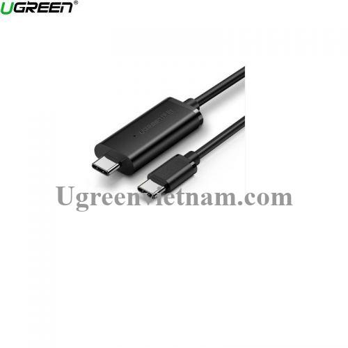 Ugreen 70421 2m 480Mbps 2.0 cáp truyền dữ liệu giữa 2 máy tính Type C sang Type C màu đen Us319 20070421