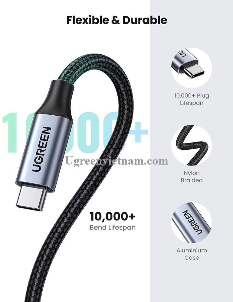 Ugreen 30205 1M Cáp nối dài usb type c US372 20030205