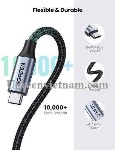 Ugreen 80810 0.5M Cáp nối dài usb type c US372 20080810