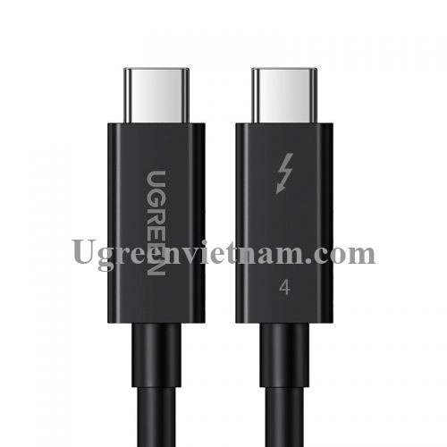 Ugreen 30389 0.8M Thunderbolt 4 cáp 8k 60hz hỗ trợ 40Gbps 100W PD màu đen US501 20030389