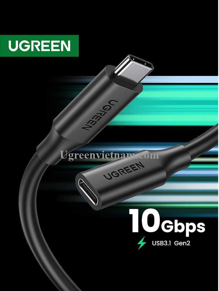 Ugreen 10387 1m Gen2 cáp usb type c nối dài US353 20010387