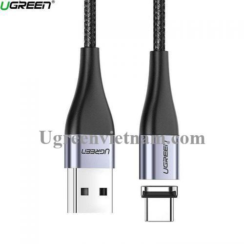 Ugreen 60277 1M đầu hít Type c + cáp USB từ tính sạc nhanh và truyền dữ liệu từ máy tính ra điện thoại ED024 20060277