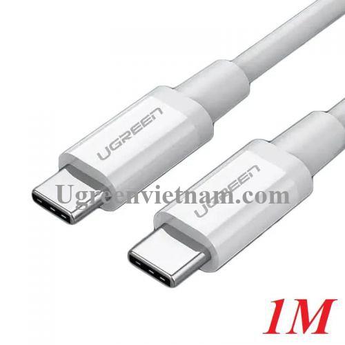 Ugreen 60518 1M màu trắng Dây USB Type-C sang USB Type-C US264