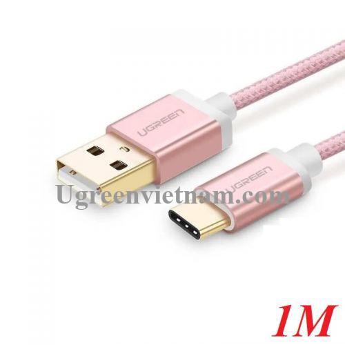 Ugreen 30508 1M màu Hồng Trắng Bộ chuyển đổi USB 2.0 sang USB-C US188