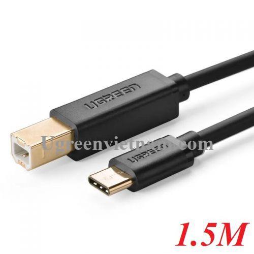 Ugreen 30180 1.5M màu đen Dây USB Type-C sang USB 2.0 mạ vàng US152