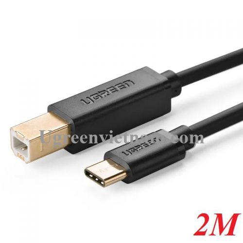 Ugreen 30181 2M màu đen Cáp USB máy in sang Type C cao cấp  US152